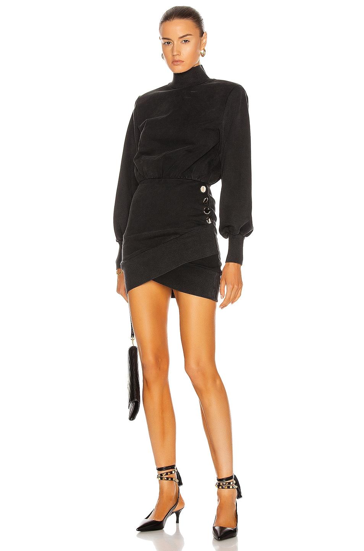 Image 1 of retrofete Althea Dress in Black