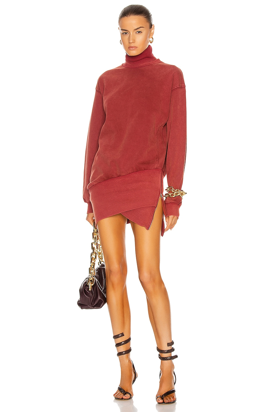 Image 1 of retrofete Desreen Sweater Dress in Red Mix