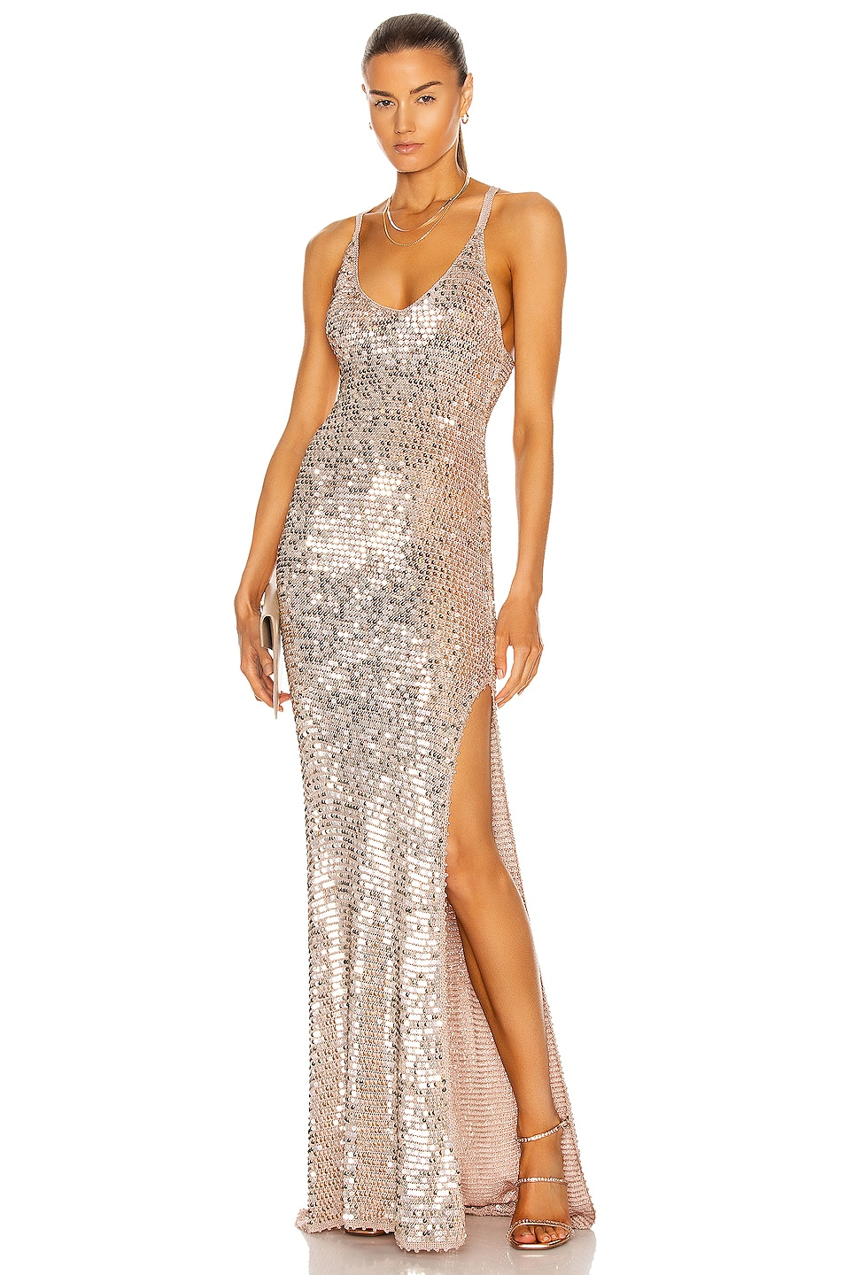 Image 1 of retrofete Marie Dress in Rose Gold
