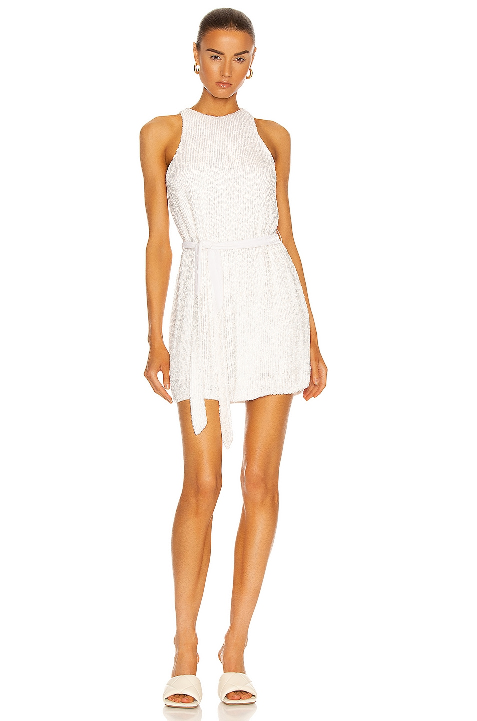 Image 1 of retrofete Cecilia Dress in Moonglow White