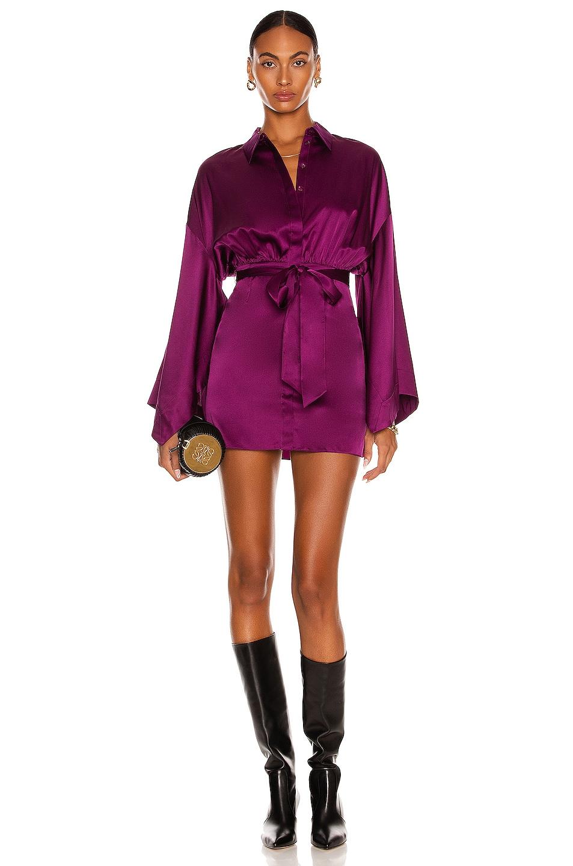 Image 1 of retrofete Scottie Dress in Deep Purple