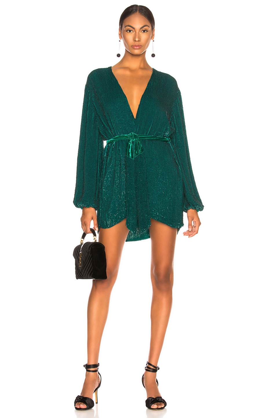 Image 1 of retrofete Gabrielle Robe Dress in Green