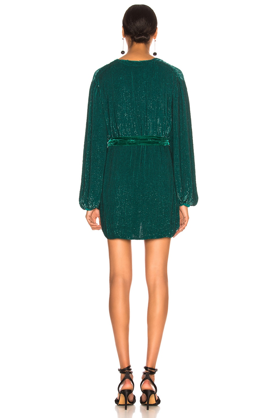 Image 3 of retrofete Gabrielle Robe Dress in Green