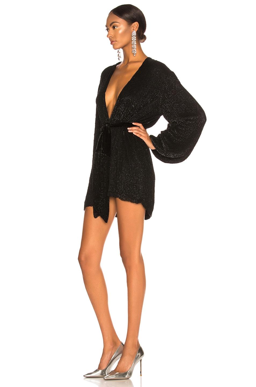 Image 3 of retrofete Gabrielle Robe Dress in Black