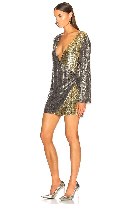 Image 3 of retrofete Christine Dress in Silver & Gold