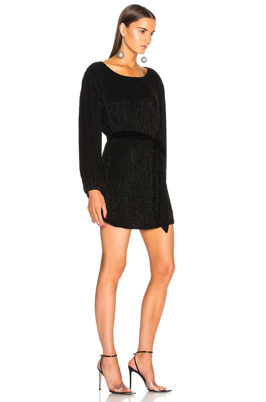 Image 2 of retrofete Grace Dress in Black Sequin