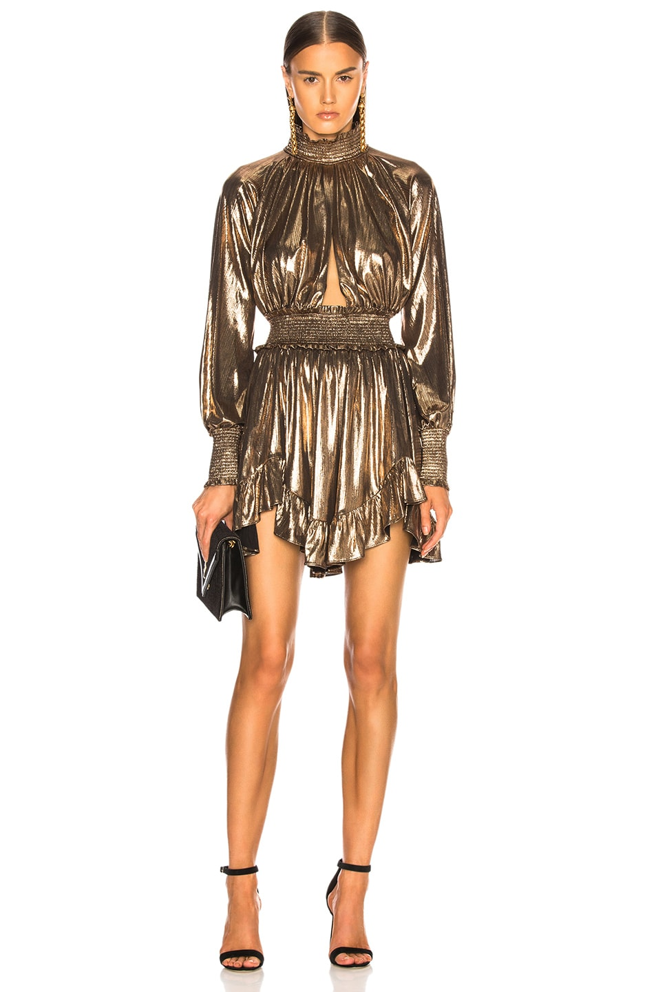 Image 1 of retrofete Farrah Dress in Bronze
