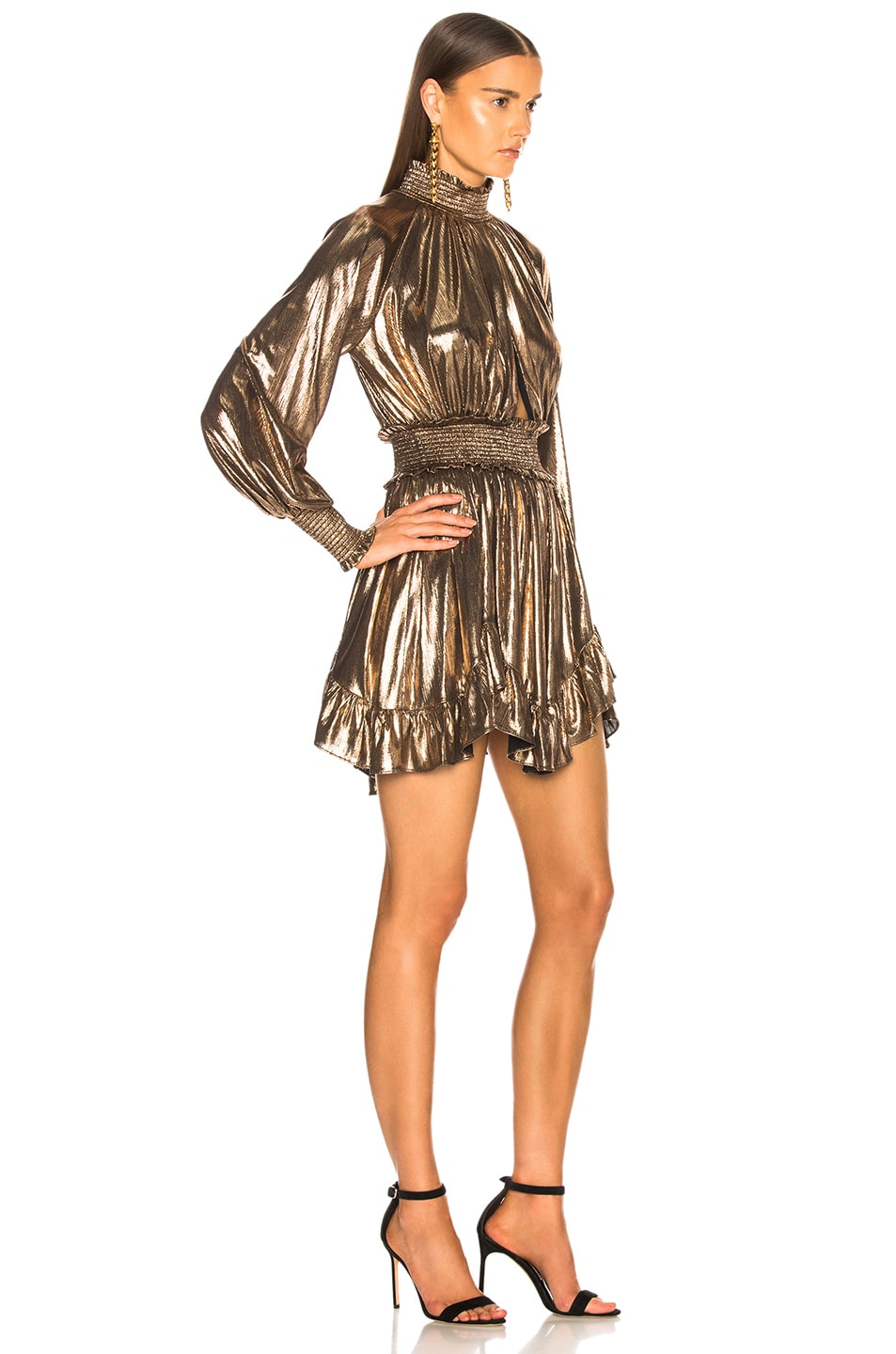 Image 2 of retrofete Farrah Dress in Bronze