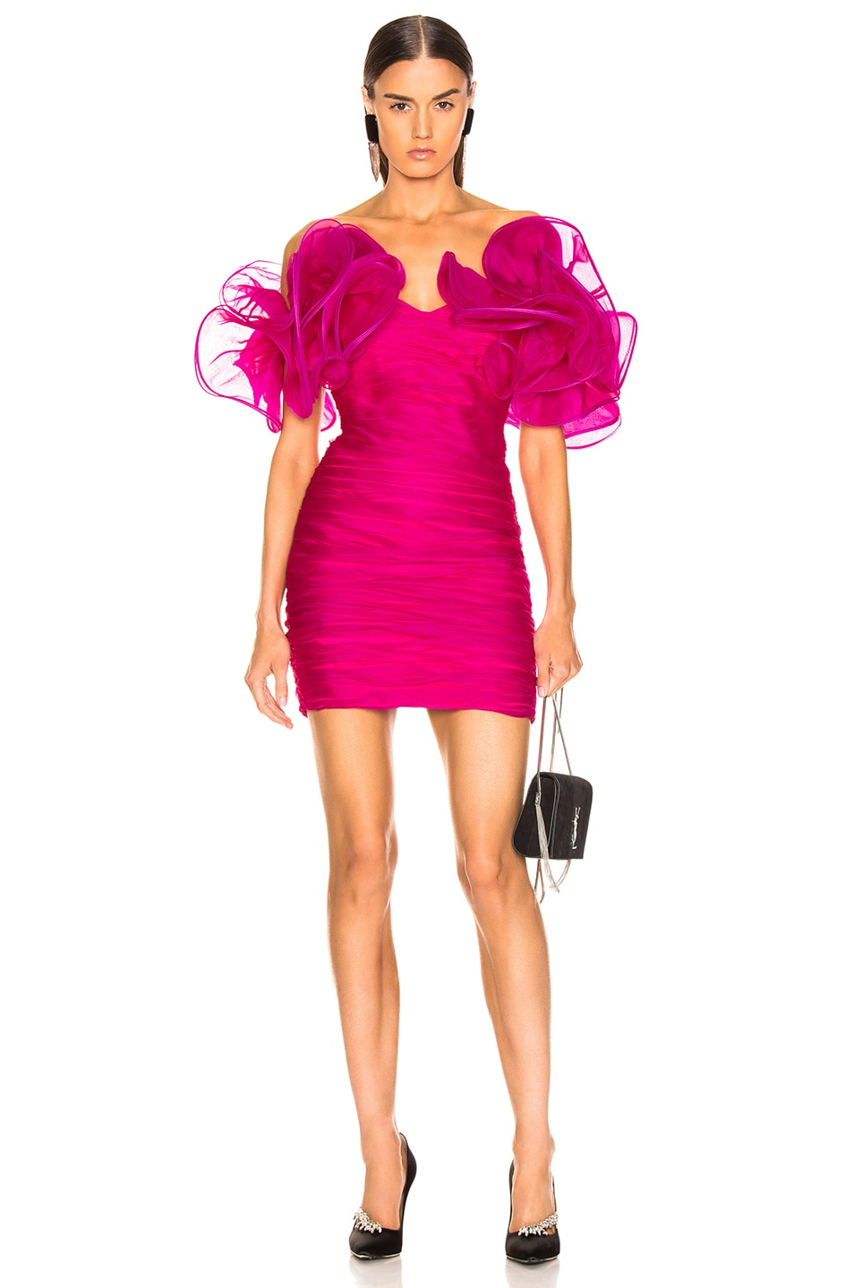 Image 1 of retrofete Sediah Dress in Fuchsia
