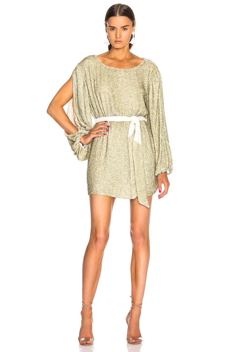 Image 1 of retrofete Selma Dress in Champagne Sequin