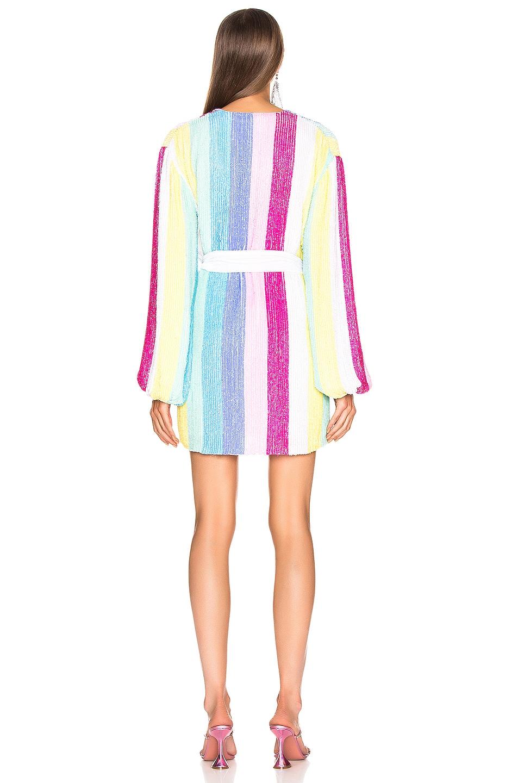 Image 3 of retrofete Gabrielle Robe Dress in Unicorn Stripes