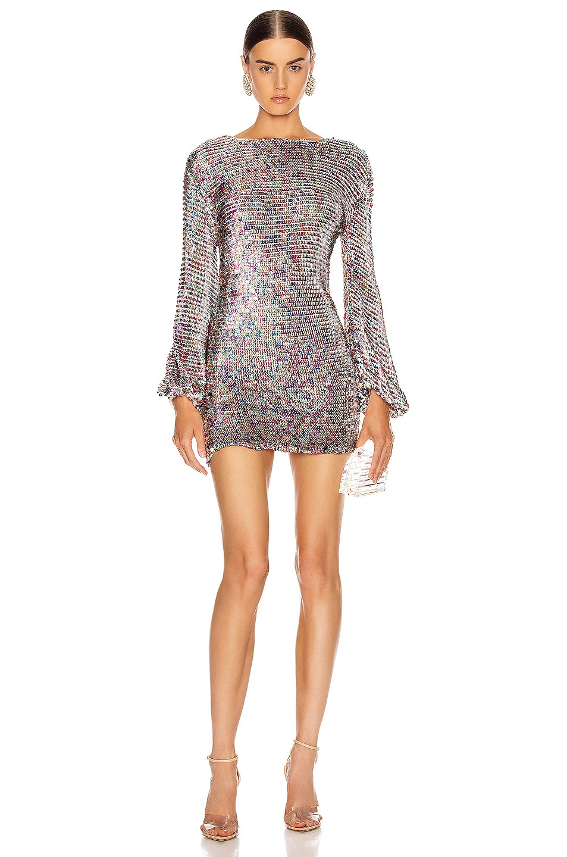 Image 1 of retrofete Tara Crochet Dress in Rainbow