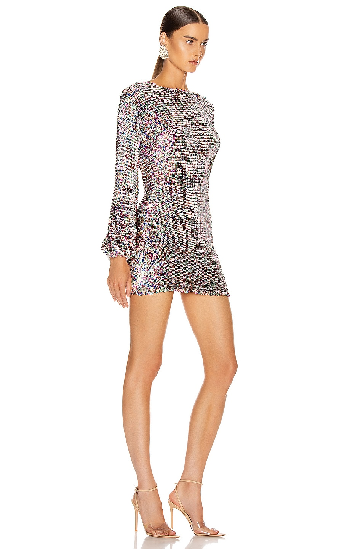 Image 2 of retrofete Tara Crochet Dress in Rainbow
