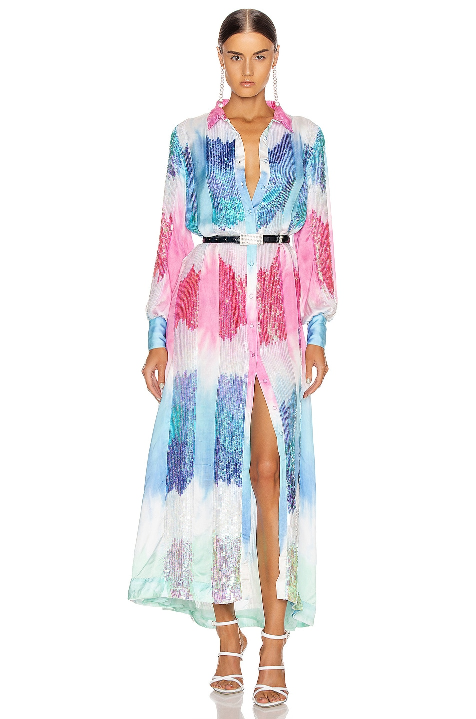 Image 1 of retrofete Dessa Dress in Unicorn Dip Dye