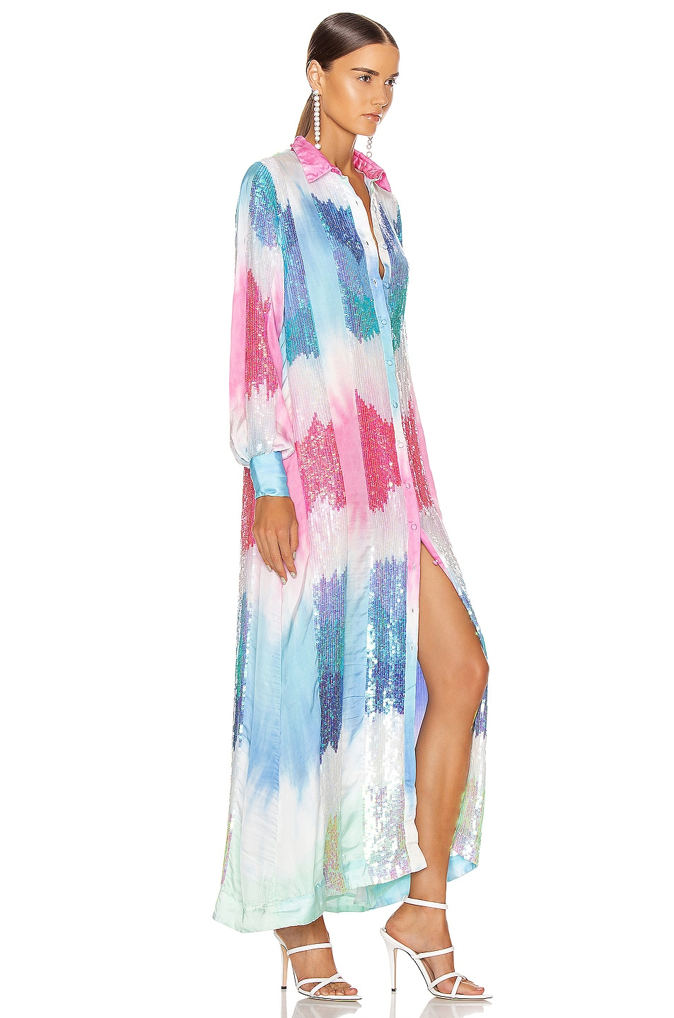 Image 3 of retrofete Dessa Dress in Unicorn Dip Dye
