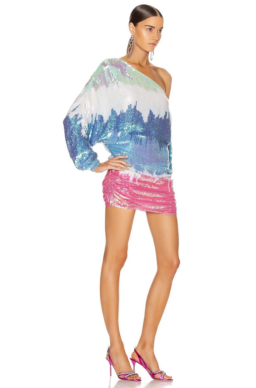 Image 2 of retrofete Yasmin Dress in Unicorn Dip Dye