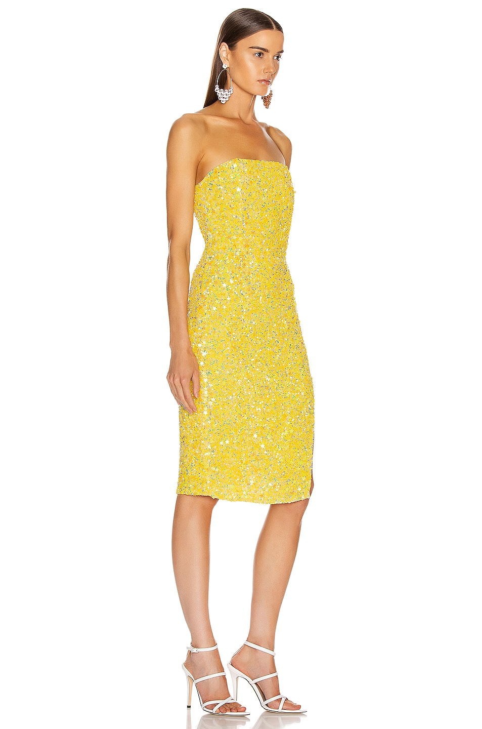 Image 2 of retrofete Arryn Dress in Yellow