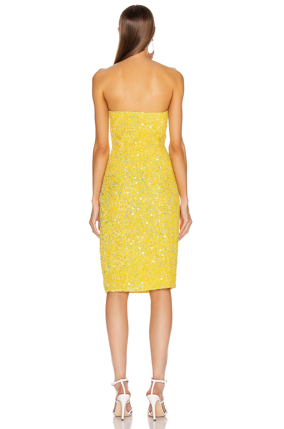Image 3 of retrofete Arryn Dress in Yellow