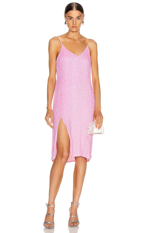 Image 1 of retrofete Denisa Dress in Unicorn Pink