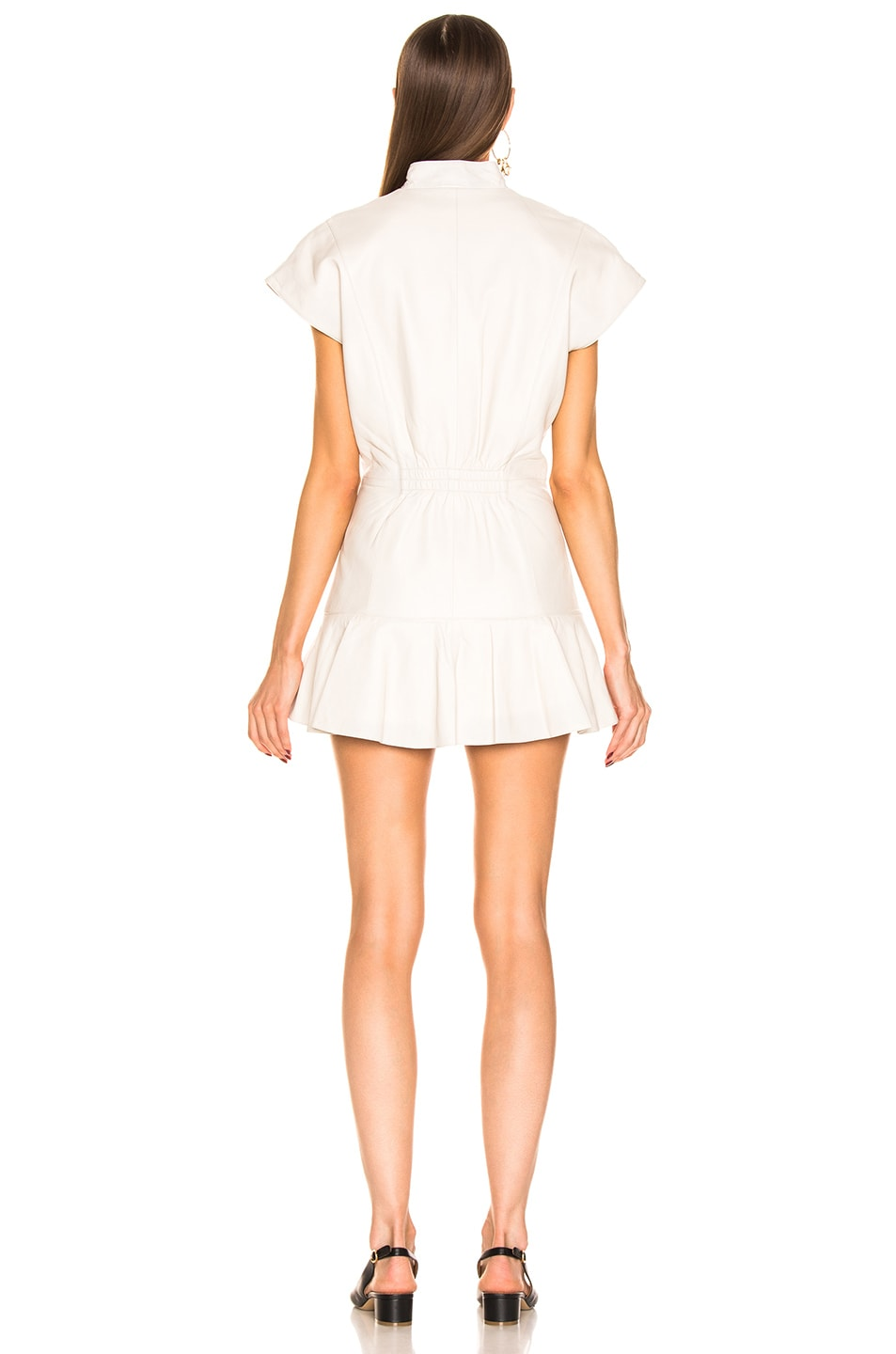 Image 3 of retrofete Lina Leather Dress in White