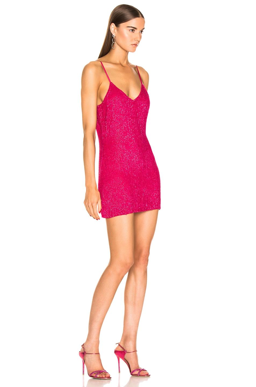 Image 2 of retrofete Claire Dress in Metallic Fuchsia