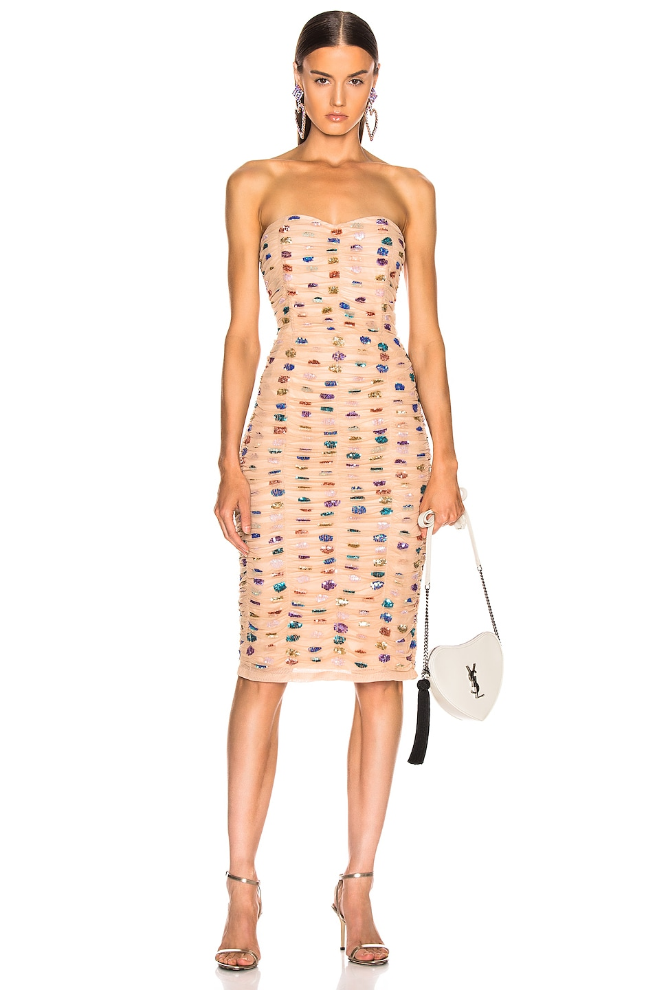 Image 1 of retrofete Rachel Dress in Nude