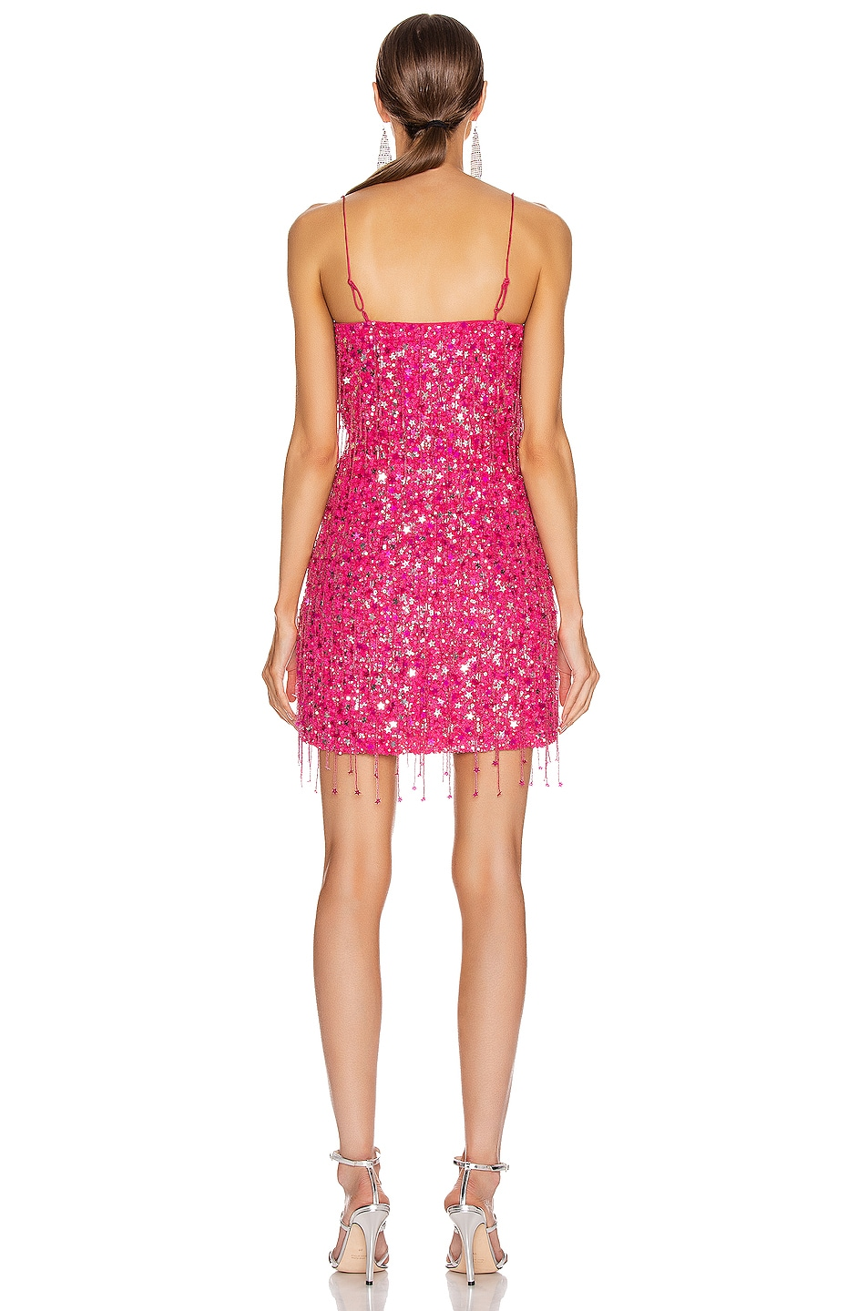 Image 3 of retrofete for FWRD Heather Dress in Fuchsia with Tassels