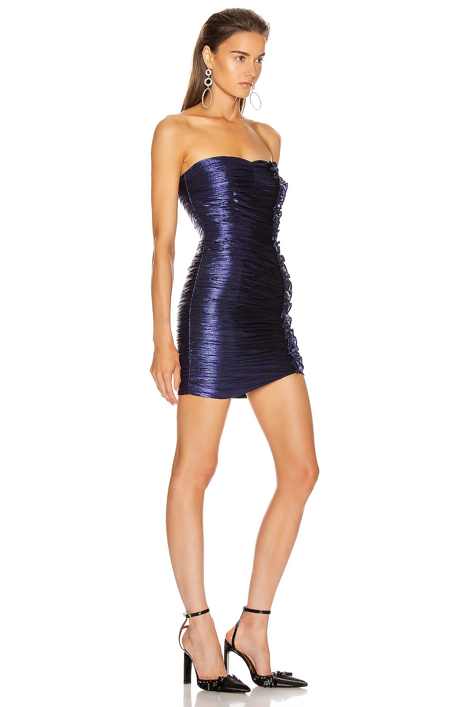 Image 2 of retrofete Adrienne Dress in Midnight Purple