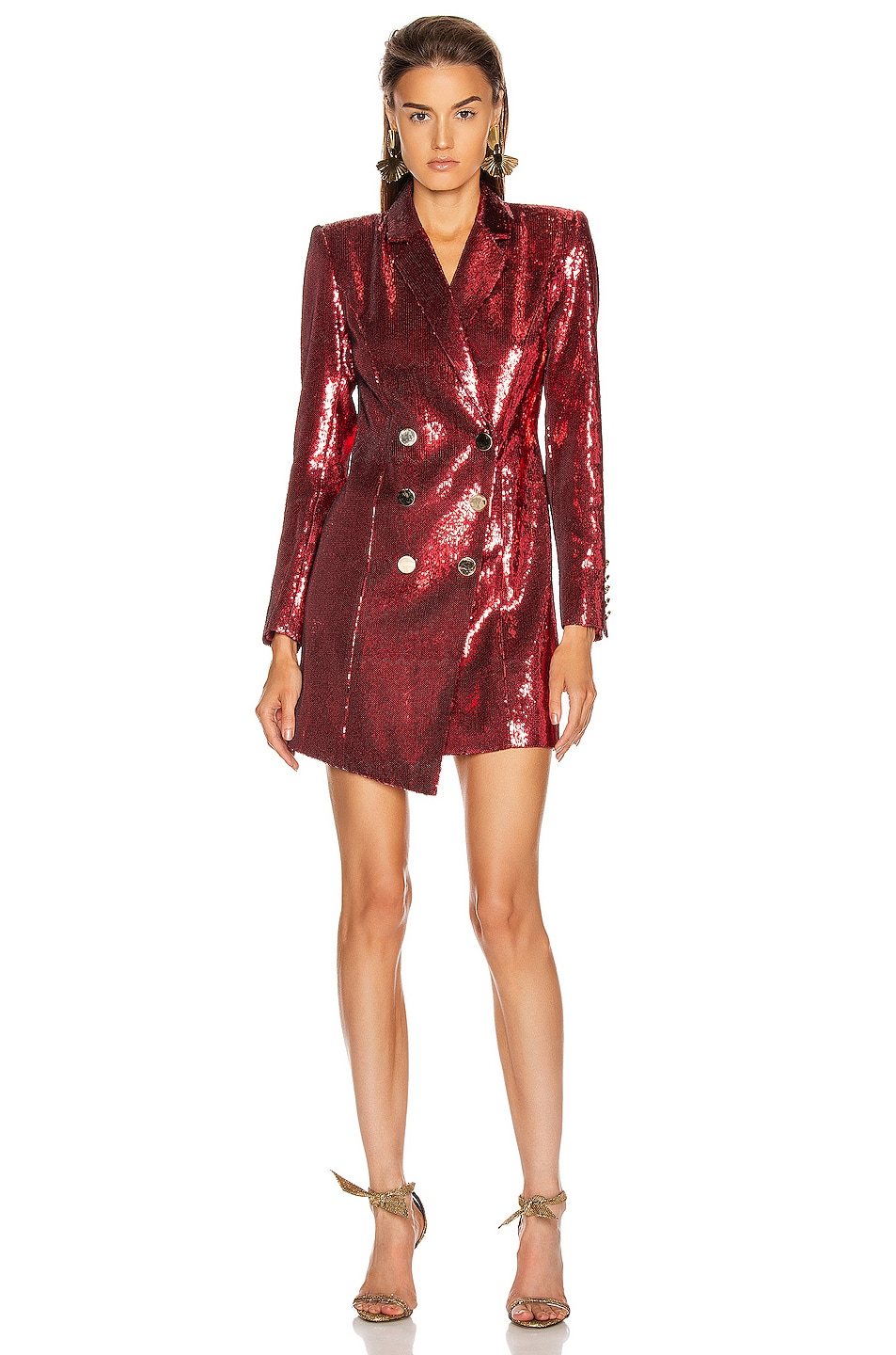 Image 1 of retrofete Selena Jacket Dress in Red