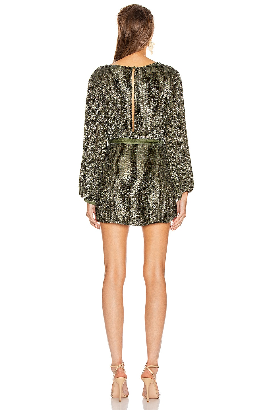 Image 3 of retrofete Grace Dress in Army Green