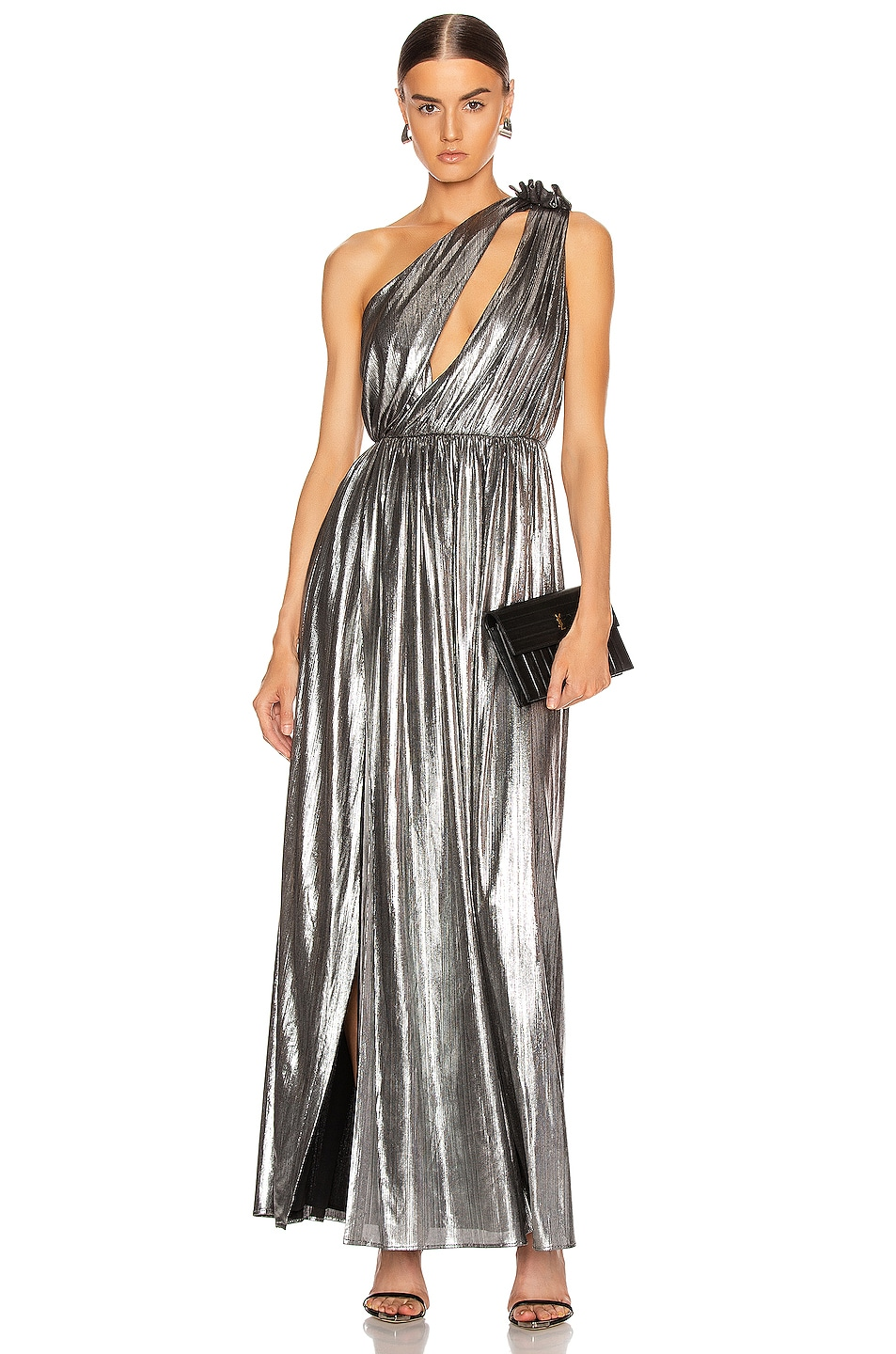 Image 2 of retrofete Andrea Maxi Dress in Gunmetal