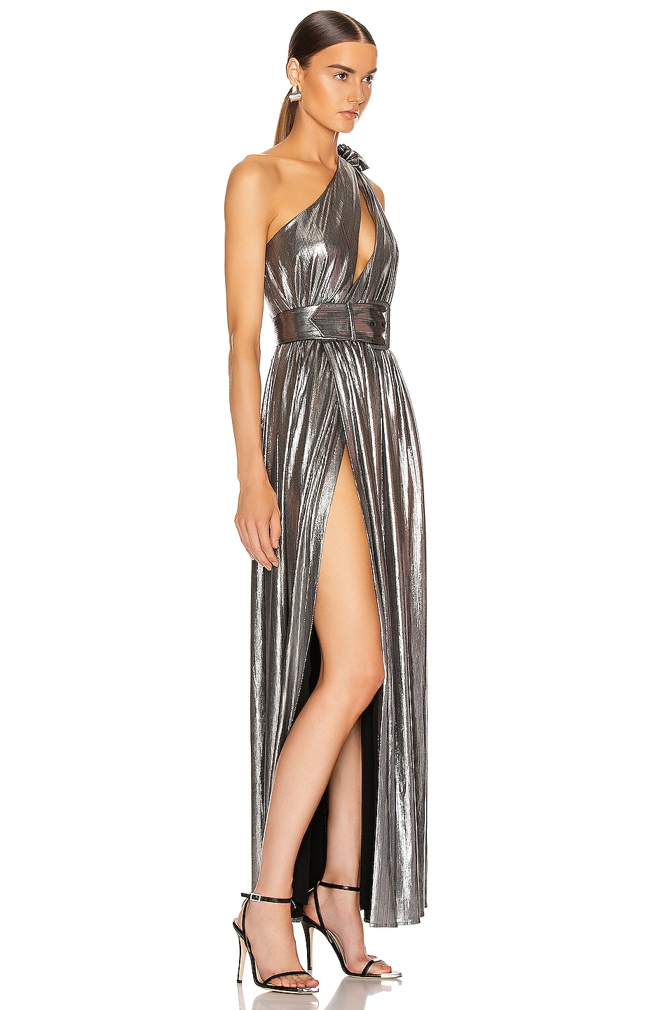 Image 3 of retrofete Andrea Maxi Dress in Gunmetal