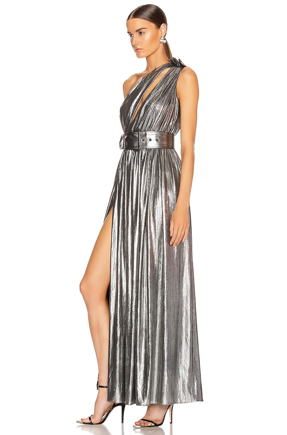 Image 4 of retrofete Andrea Maxi Dress in Gunmetal