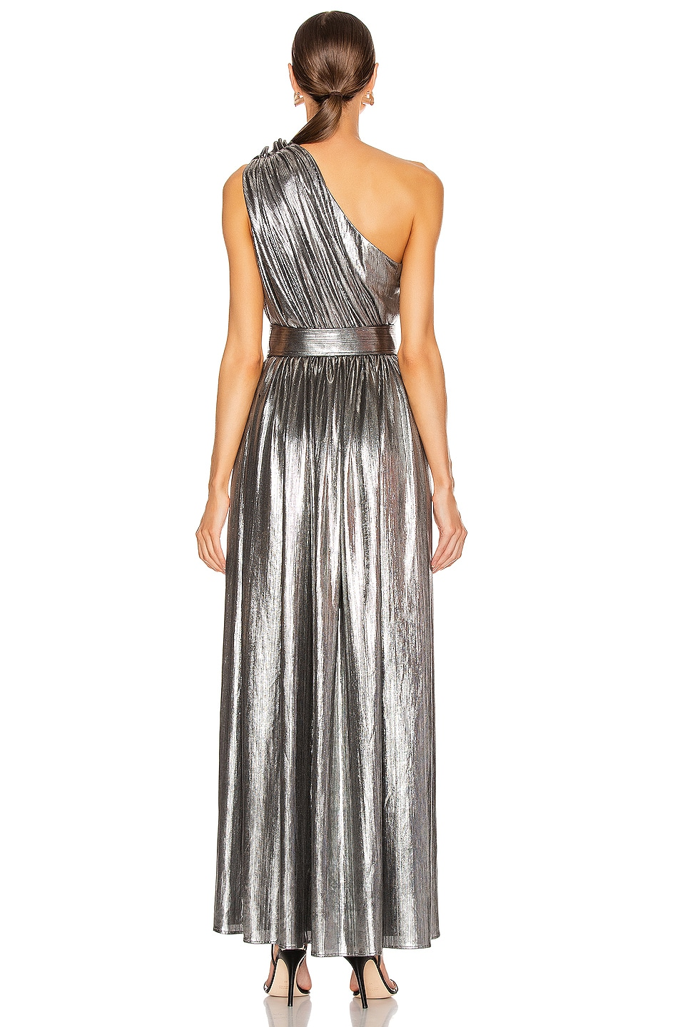 Image 5 of retrofete Andrea Maxi Dress in Gunmetal