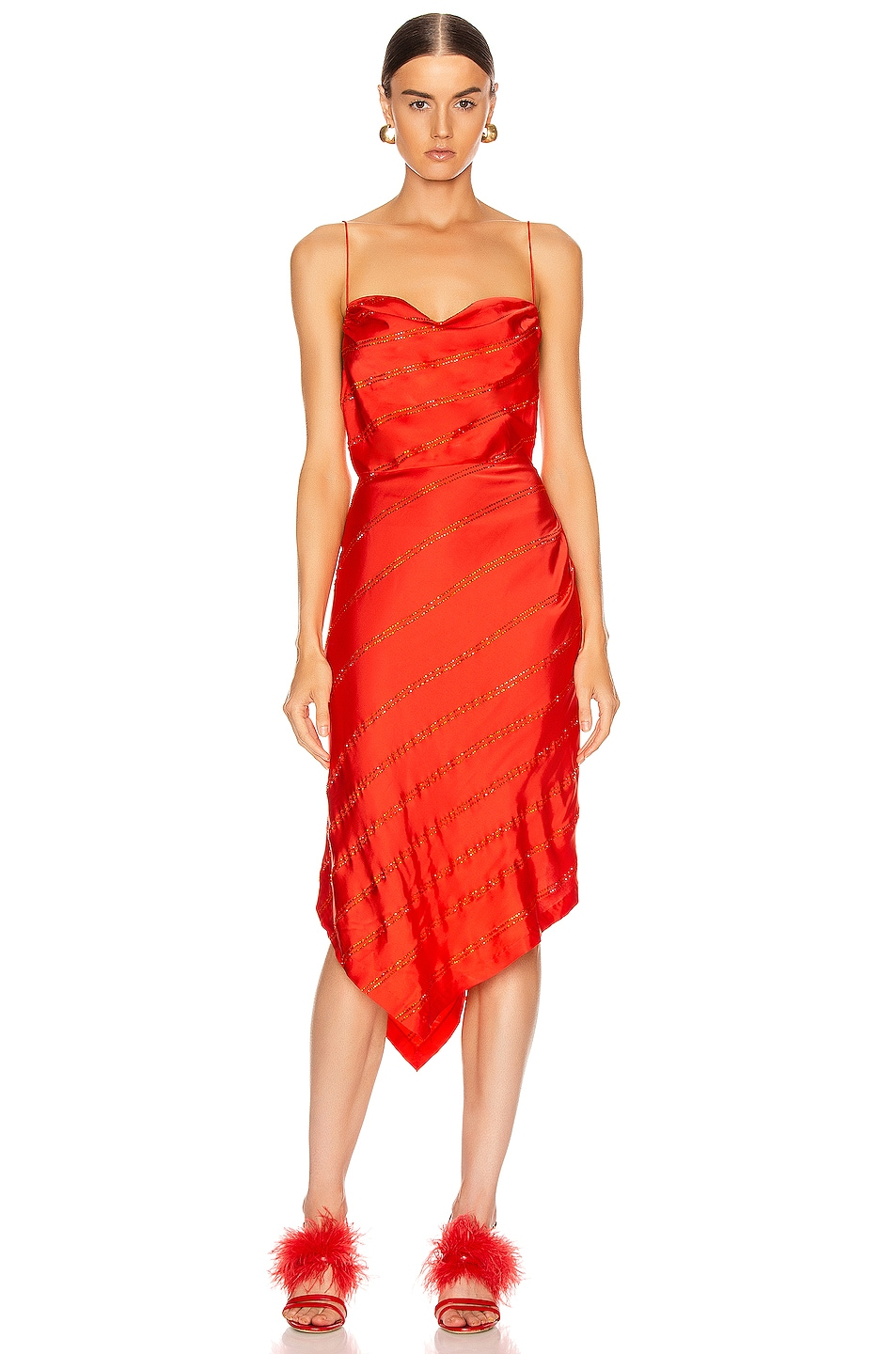 Image 1 of retrofete Lilly Dress in Orange