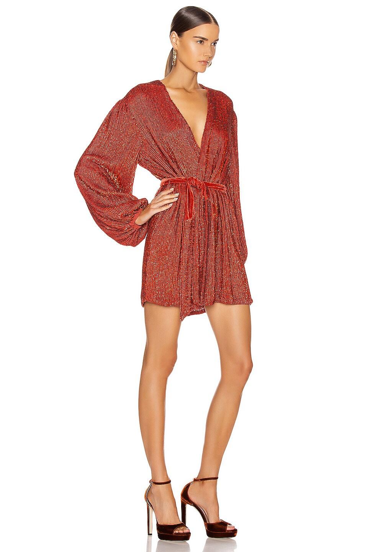 Image 2 of retrofete Gabrielle Robe Dress in Burnt Orange