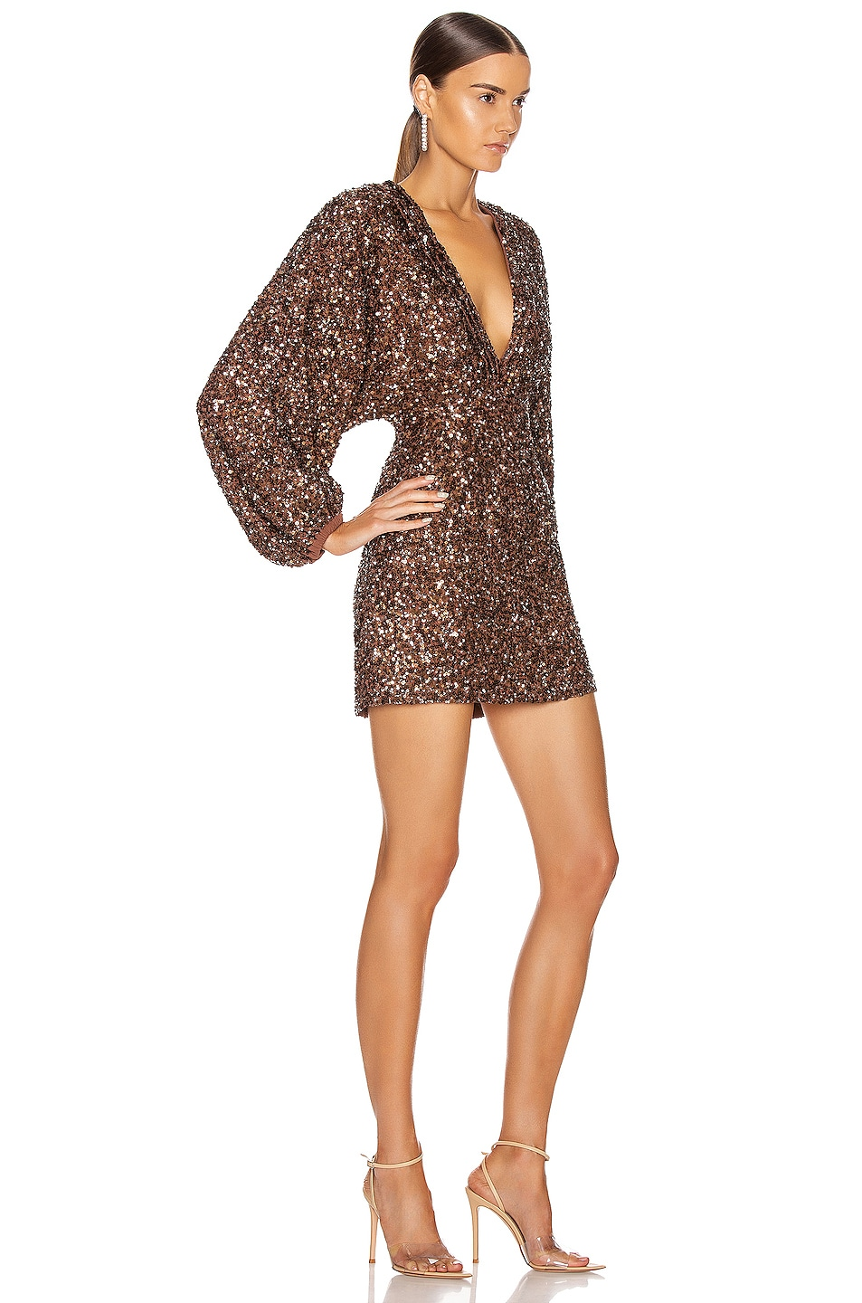 Image 2 of retrofete Aubriella Dress in Brown Mix