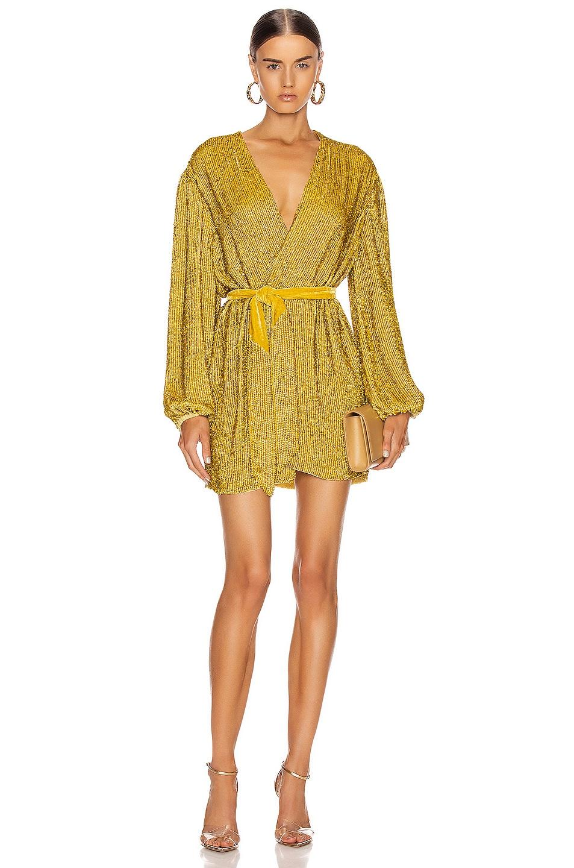 Image 1 of retrofete Gabrielle Robe Dress in Citrus