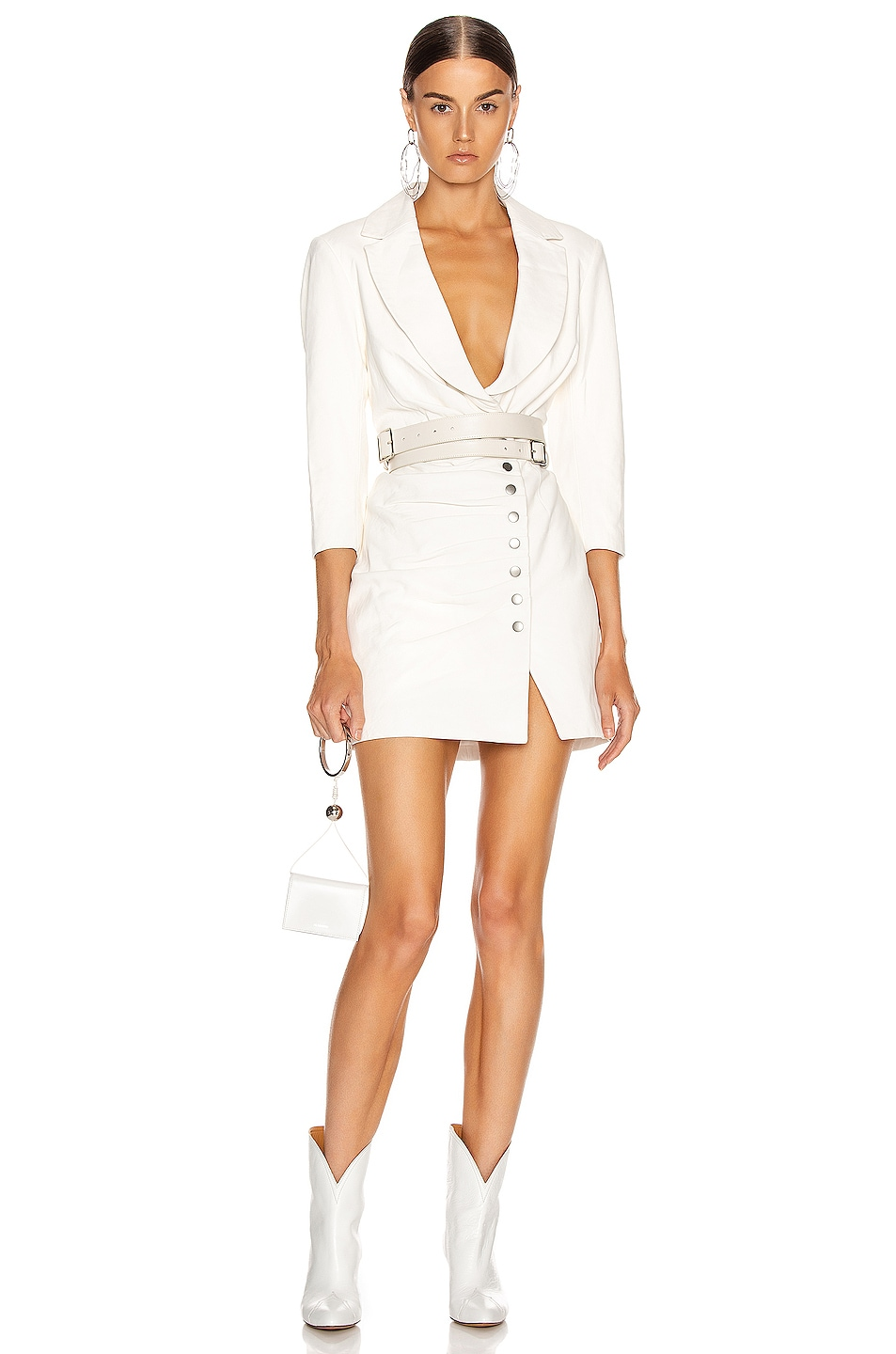 Image 1 of retrofete Willa Leather Dress in White