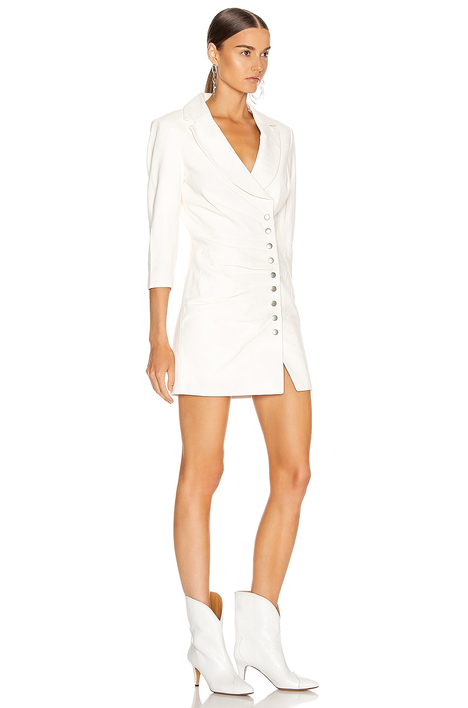 Image 2 of retrofete Willa Leather Dress in White