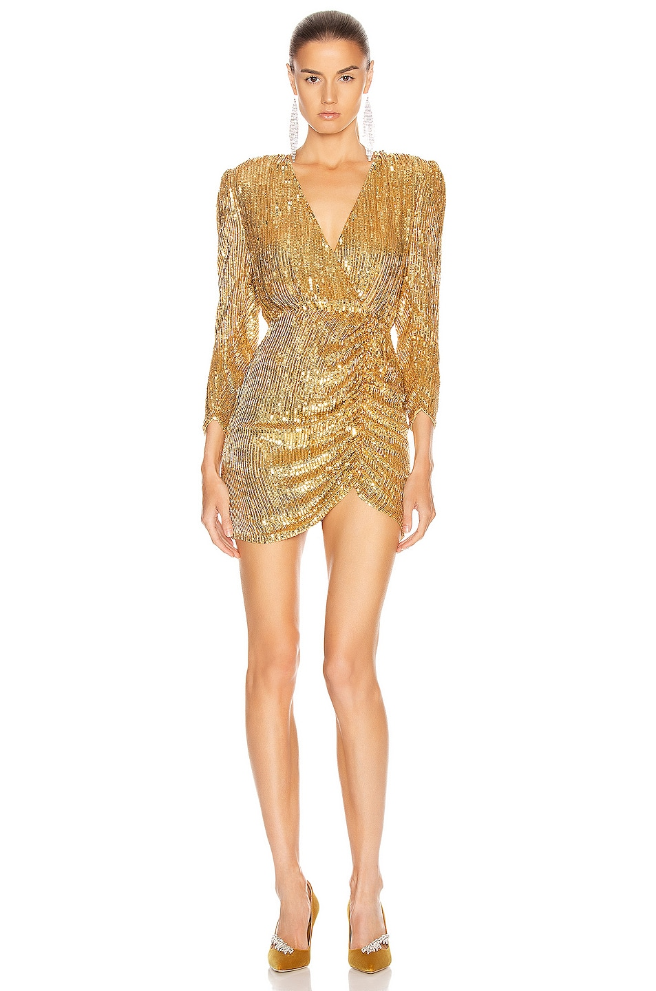 Image 1 of retrofete for FWRD Stacey Dress in Gold