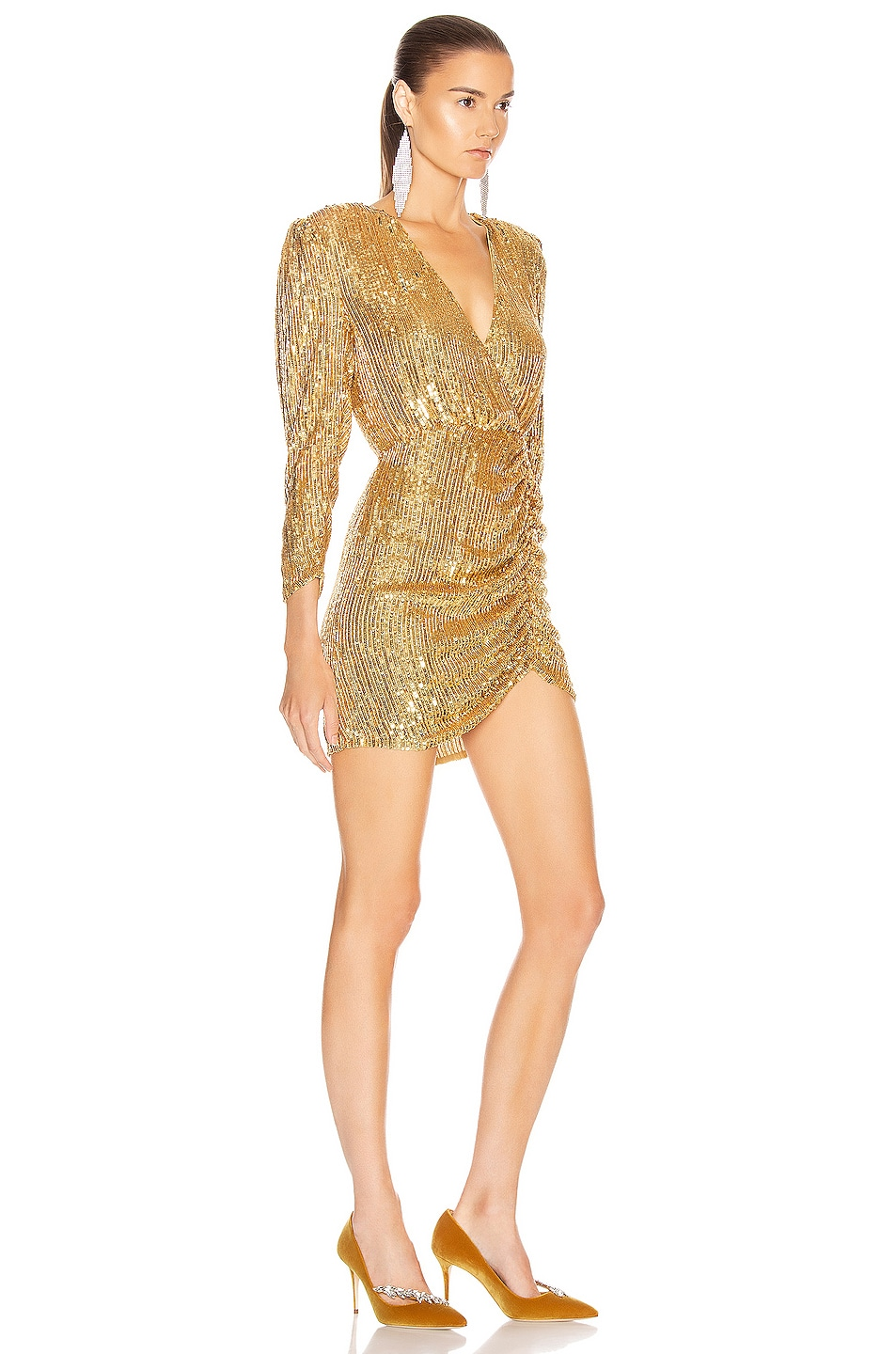 Image 2 of retrofete for FWRD Stacey Dress in Gold