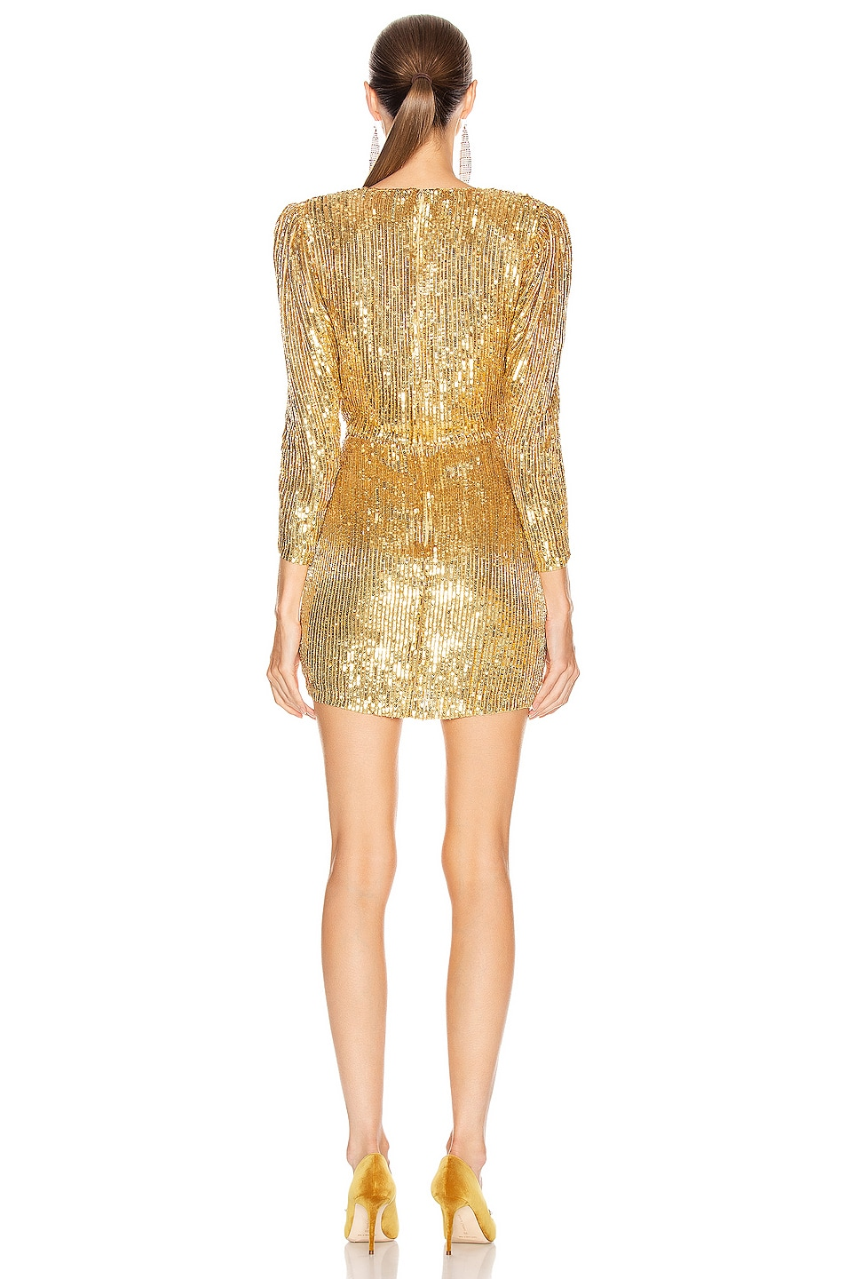 Image 4 of retrofete for FWRD Stacey Dress in Gold