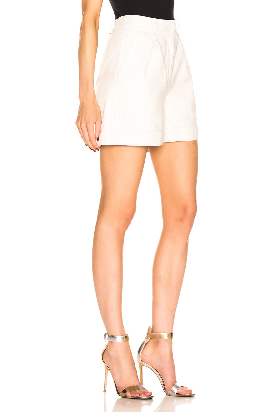 Image 2 of retrofete Mila Leather Short in White