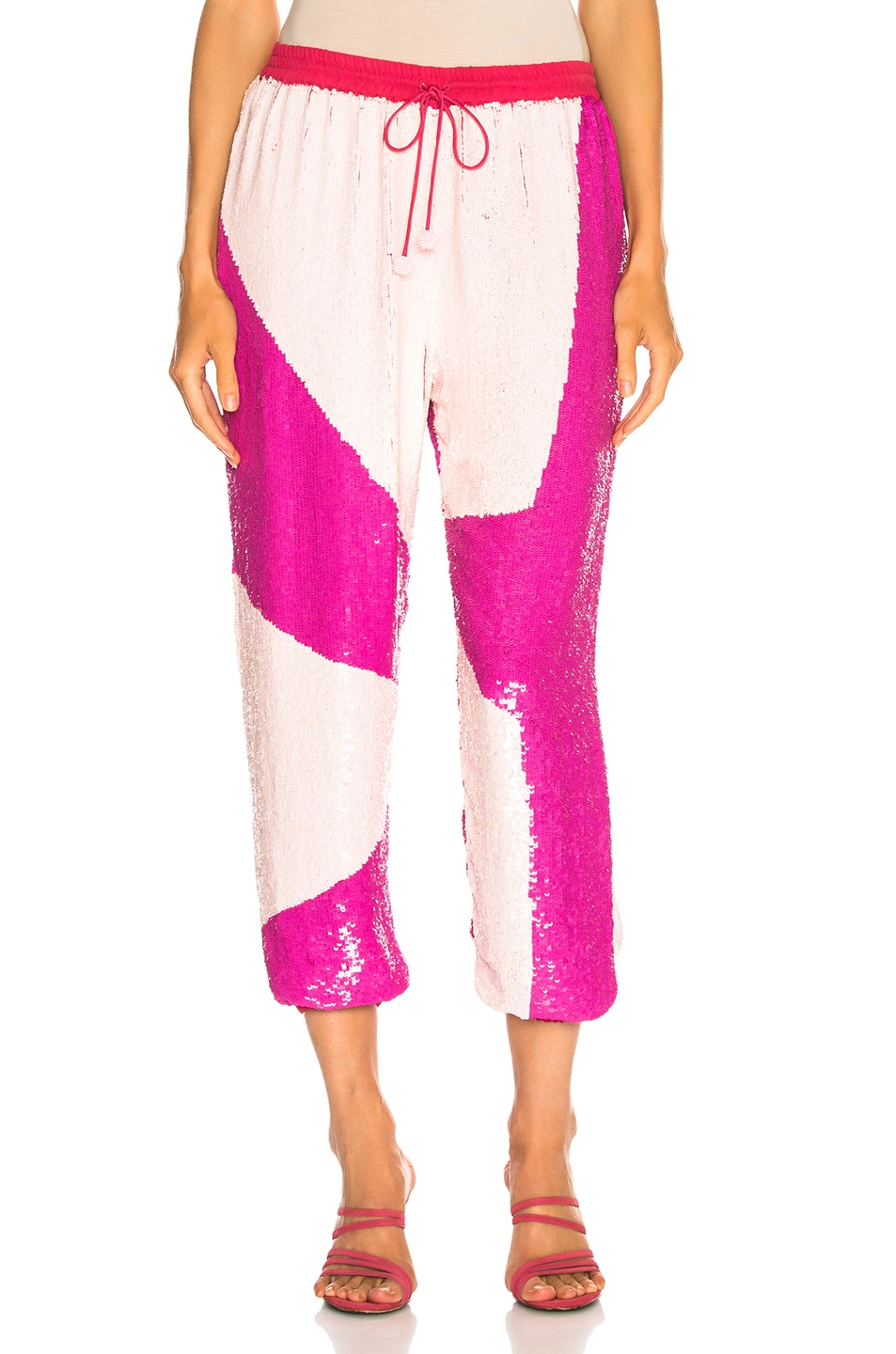 Image 1 of retrofete for FWRD Stacia Jogger in Pink Mix