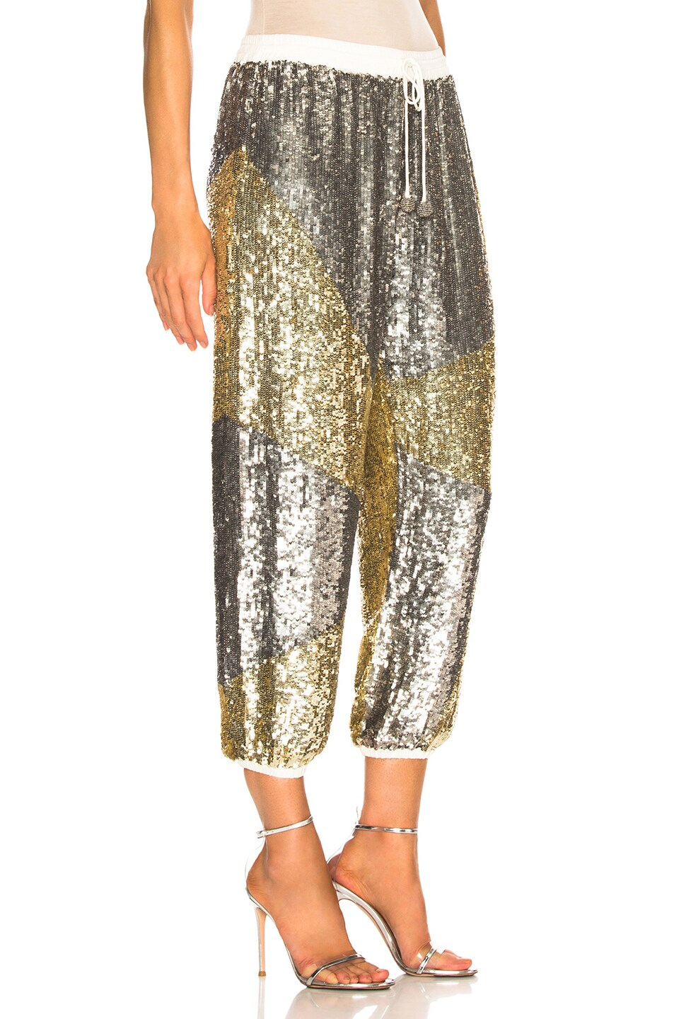 Image 2 of retrofete Stacia Pant in Silver & Gold