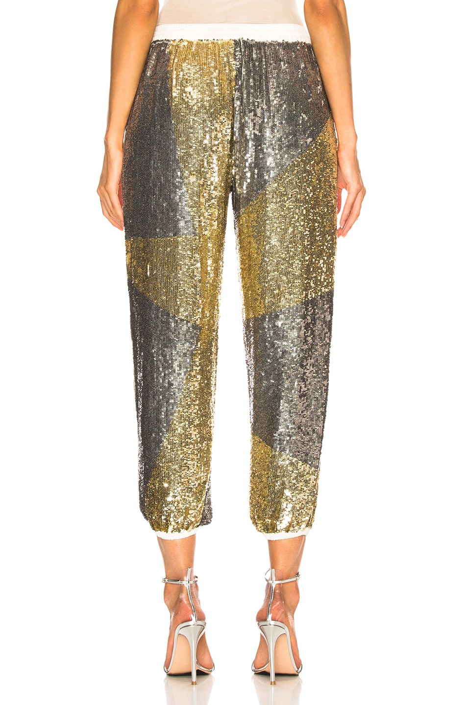 Image 4 of retrofete Stacia Pant in Silver & Gold