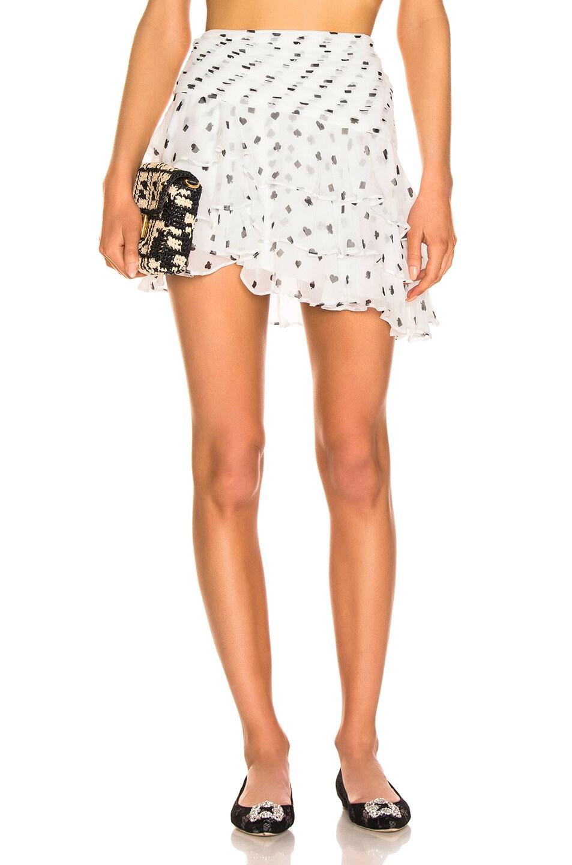 Image 1 of retrofete Reese Skirt in White & Poker Dots