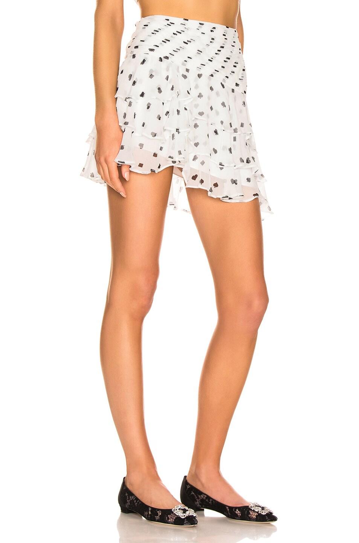 Image 2 of retrofete Reese Skirt in White & Poker Dots