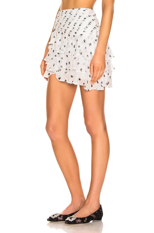 Image 3 of retrofete Reese Skirt in White & Poker Dots
